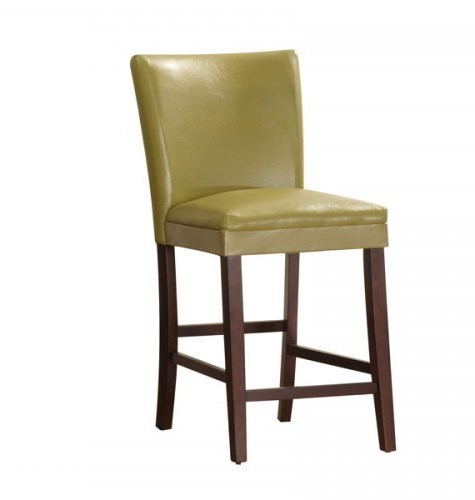 2 Belvedere Espresso Wood Yellow Vinyl Counter Height Chairs HE-3276Y-24