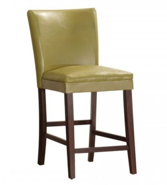 2 Home Elegance Belvedere Yellow Counter Height Chairs HE-3276Y-24