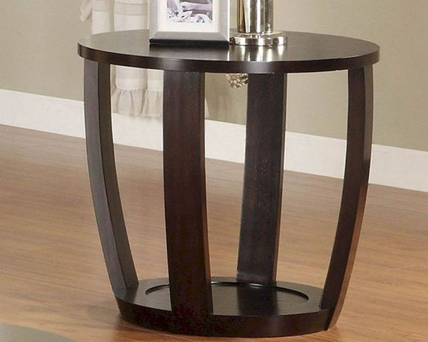 Patterson Modern Espresso Wood End Table HE-3296-04
