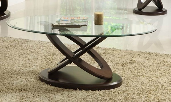 Home Elegance Firth II Cocktail Table with Glass Top HE-3401W-30