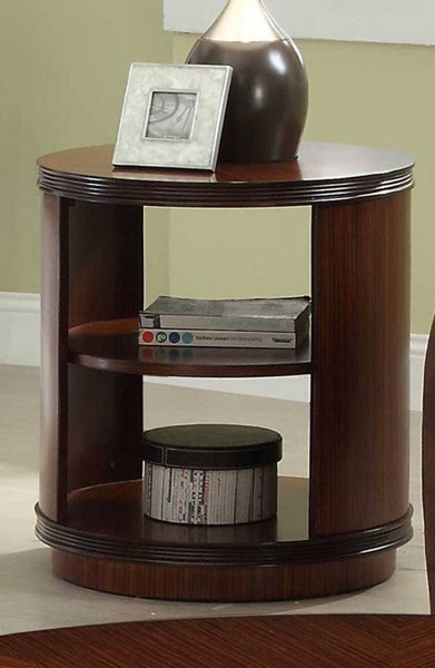 Orlin Contemporary Cherry Wood End Table HE-3448-04
