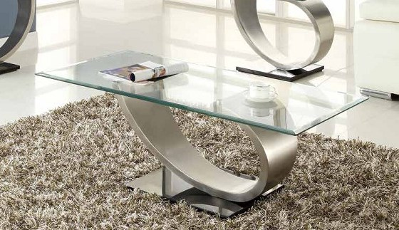 Home Elegance Silvera Cocktail Table with Glass Top HE-3449-30