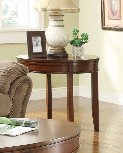 Parrish Cherry Wood Oval and Legs End Table HE-3458-04