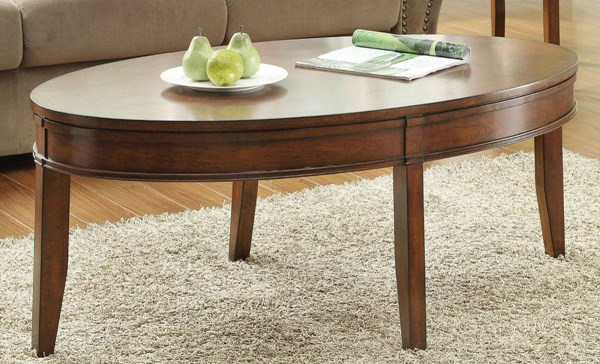 Parrish Cherry Wood Oval Shape Cocktail Table HE-3458-30