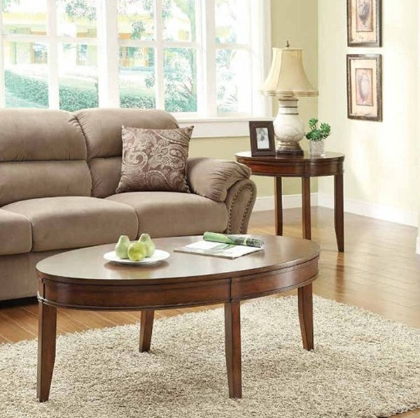 Parrish Cherry Wood 3pc Coffee Table Set HE-3458-OCT-S