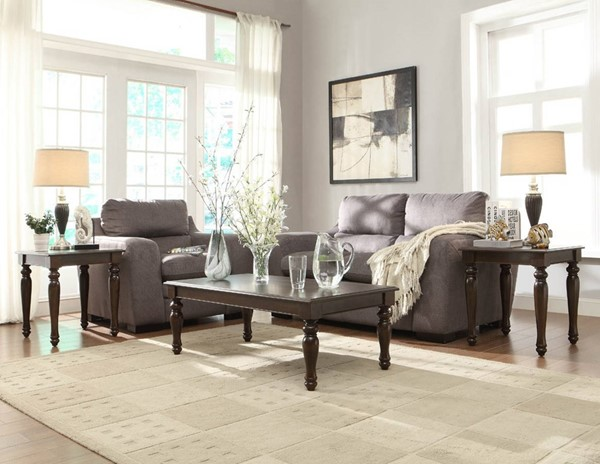 Home Elegance Hebron Cherry 3 Piece Occasional Tables HE-3491-31