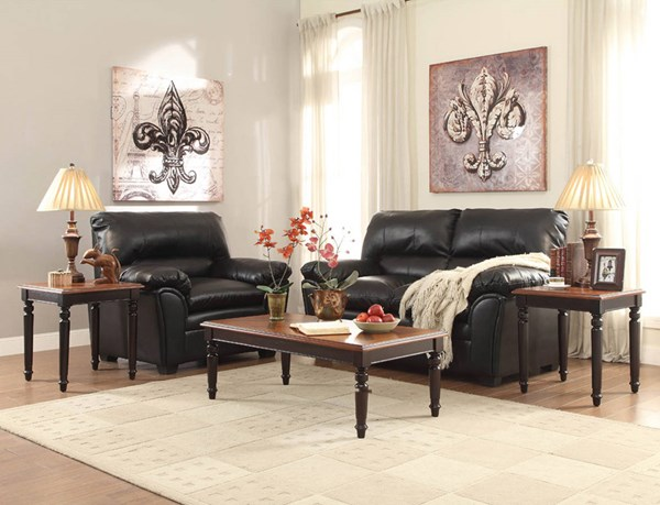Pitman Traditional Black Cherry Wood 3-Piece Occasional Tables HE-3499-31