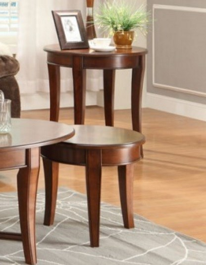 Violetta Transitional Warm Cherry Wood Round End Table HE-3507-04