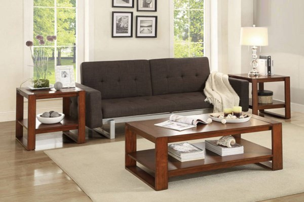Pannell Modern Warm Cherry Wood 3-Piece Occasional Tables HE-3509-31