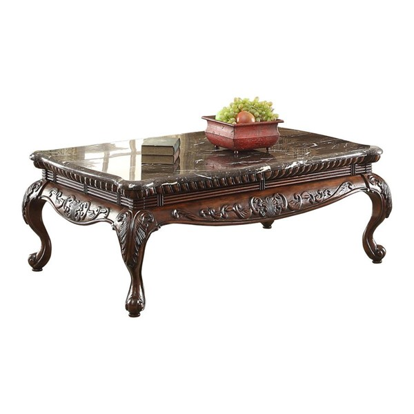 Home Elegance Mariacarla Cocktail Table with Marble Top HE-3526-30