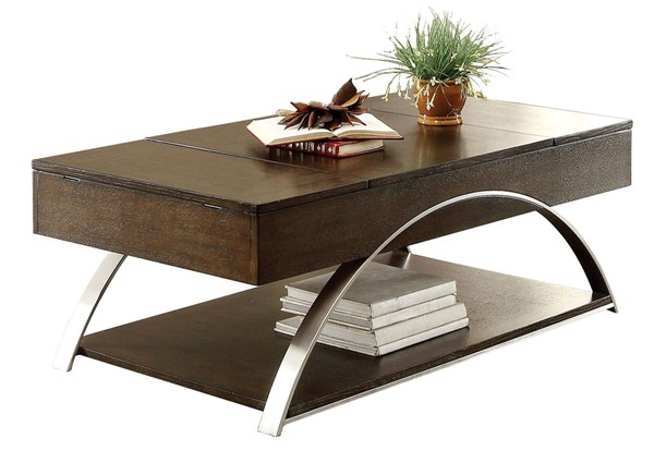 Home Elegance Tioga Espresso Lift Top Cocktail Table HE-3533RF-30
