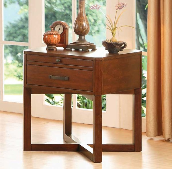 Home Elegance Capitan End Table with Drawer HE-3578-04