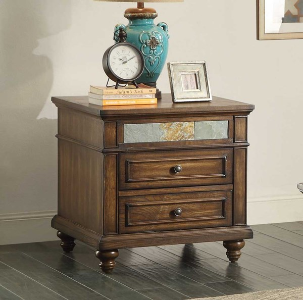 Home Elegance Chehalis End Table with Drawer HE-3581-04