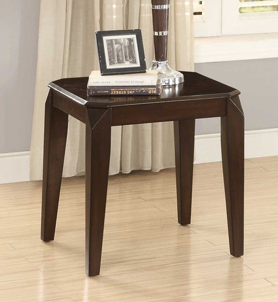 Home Elegance Sikeston Warm Cherry End Table HE-3588-04