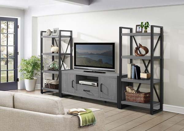 Home Elegance Dogue Entertainment Center with 63 Inch TV Stand HE-36060-63T-ENT-S1