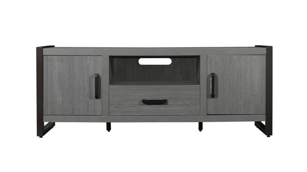 Home Elegance Dogue Gunmetal 63 Inch TV Stand HE-36060-63T