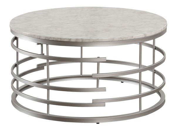 Home Elegance Brassica Silver Round Coffee Table HE-3608SV-01