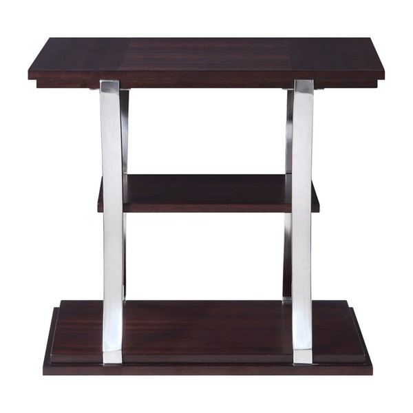 Home Elegance Bevan Dark Cherry End Table HE-3611RF-04