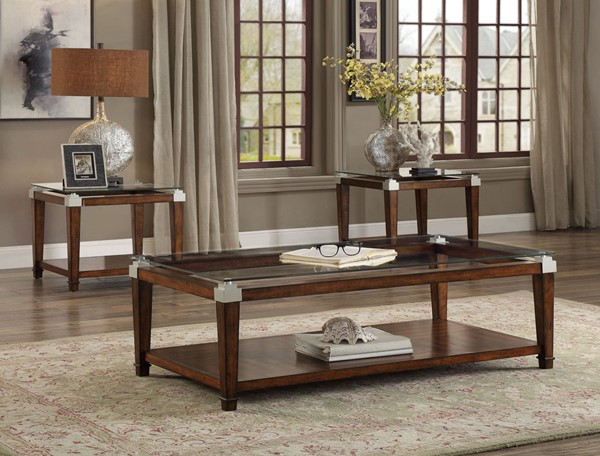 Home Elegance Paseo Cherry 3pc Occasional Set HE-3612-31