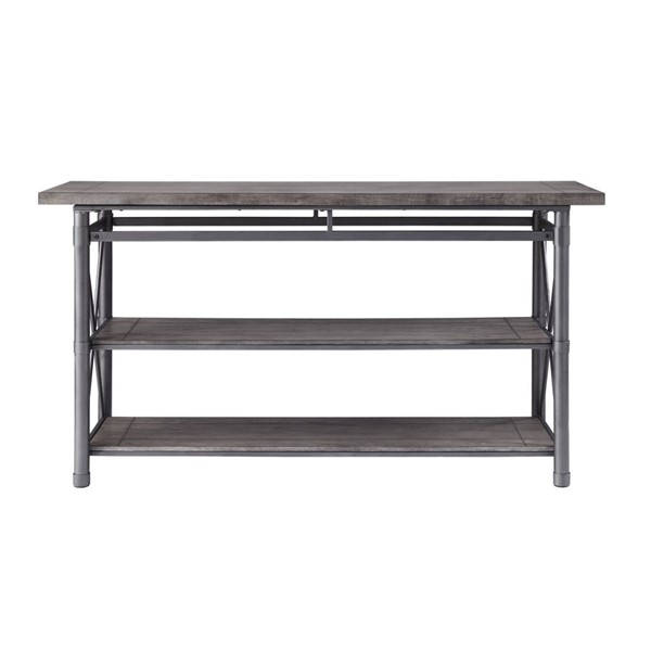 Home Elegance Laurel Hill Antique Gray TV Stand HE-36340-56T
