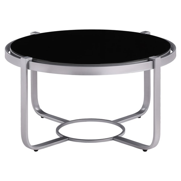 Home Elegance Caracal Silver Cocktail Table HE-3635SV-01