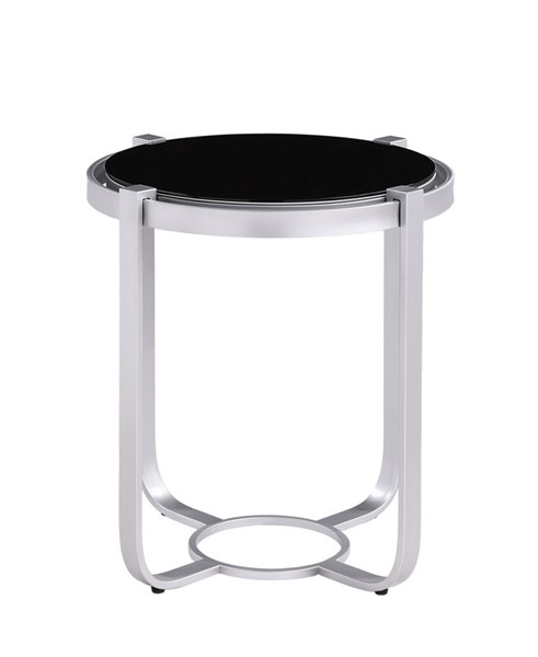 Home Elegance Caracal Silver End Table HE-3635SV-04