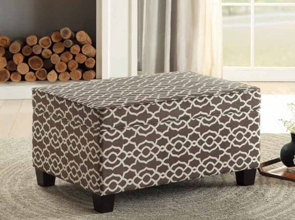 Home Elegance Tala Brown Lift Top Storage Cocktail Ottoman HE-4501-F2