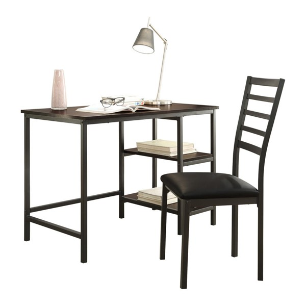 Home Elegance Madigan Dark Writing Desk and Chair Set HE-4514-15