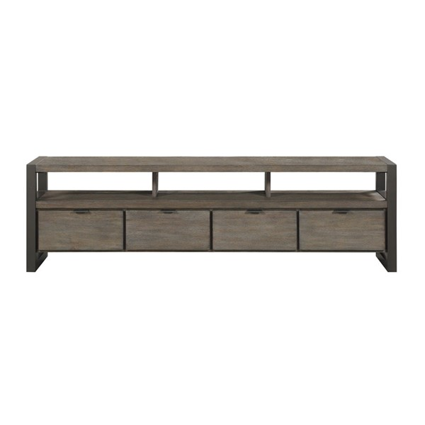 Home Elegance Prudhoe Gunmetal 76 Inch TV Stand HE-4550-76T