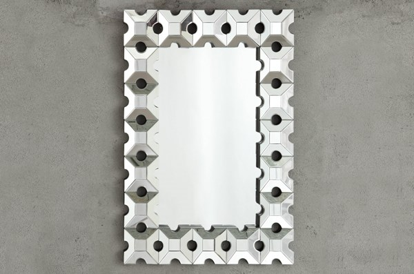 Reflective Glass Wall Mirror w/Rectangle Shape HE-4634M
