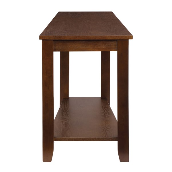 Home Elegance Elwell Espresso Chair Side Table HE-4728ES