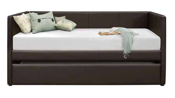 Home Elegance Adra Dark Brown Daybed with Trundle HE-4949DBR