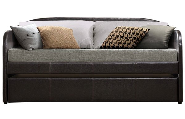 Home Elegance Roland Dark Brown Daybed with Trundle HE-4950