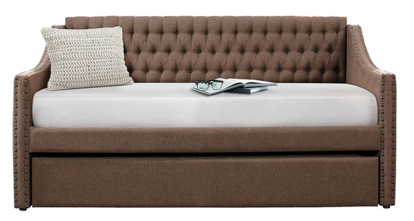 Home Elegance Tulney Brown Daybed with Trundle HE-4966BR