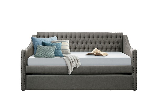 Home Elegance Tulney Dark Gray Daybed with Trundle HE-4966DG