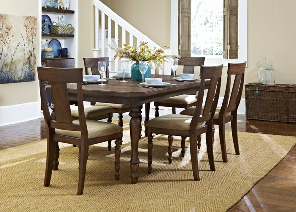 Maribelle Modern Warm Brown Wood Dining Table HE-5024-78