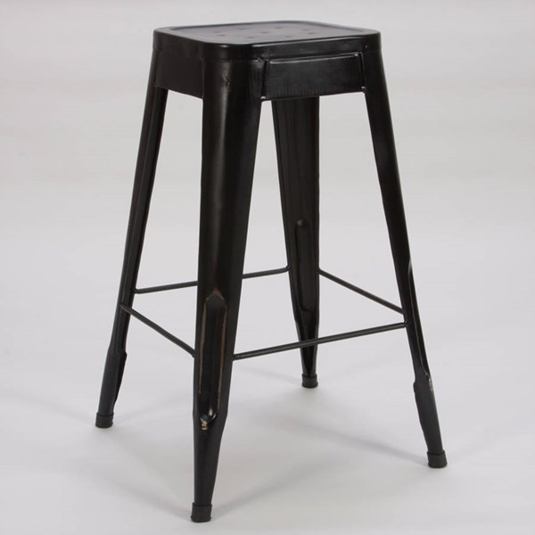 4 Amara Traditional Black Metal 29 Inch Stools HE-5035BLK-29