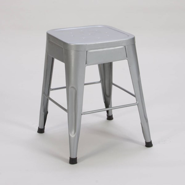 4 Amara Traditional Silver Metal 18 Inch Stools HE-5035SVE-18