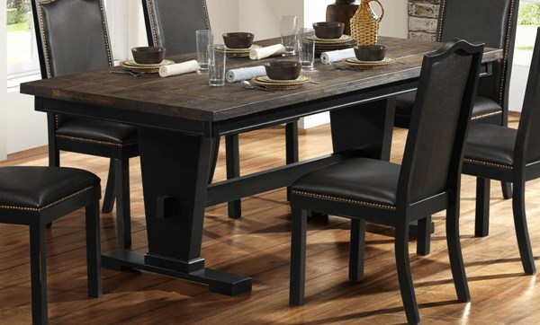 Nuland Casual Black Brown Wood Dining Table HE-5047