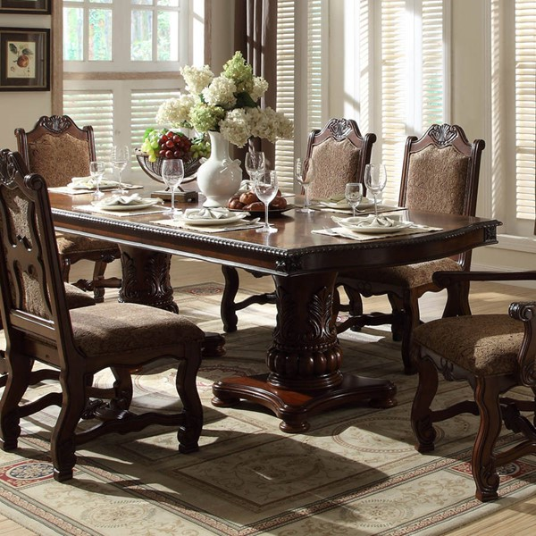 Home Elegance Thurmont Rich Cherry Dining Table HE-5052-118