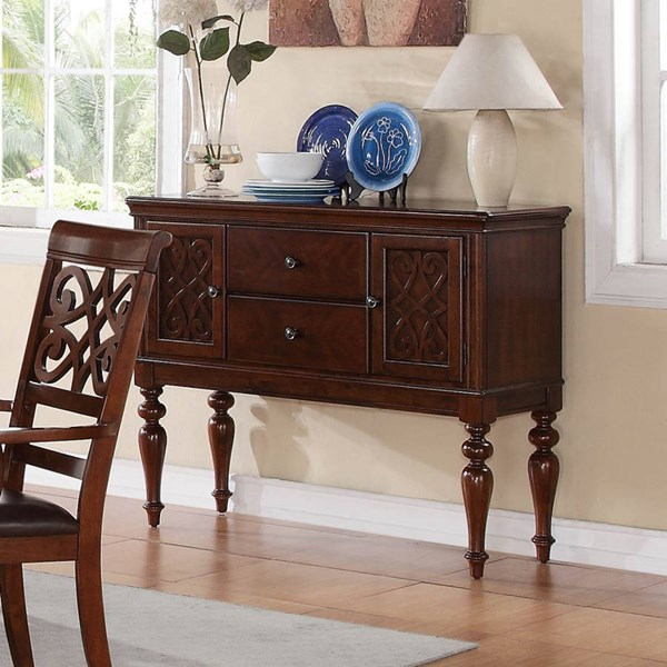 Creswell Traditional Rich Cherry Wood Server HE-5056-40