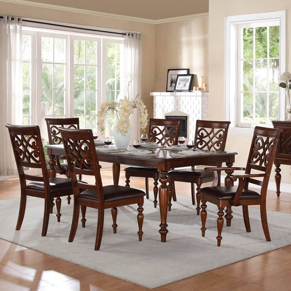 Creswell Traditional Rich Cherry Wood Dining Table HE-5056-78