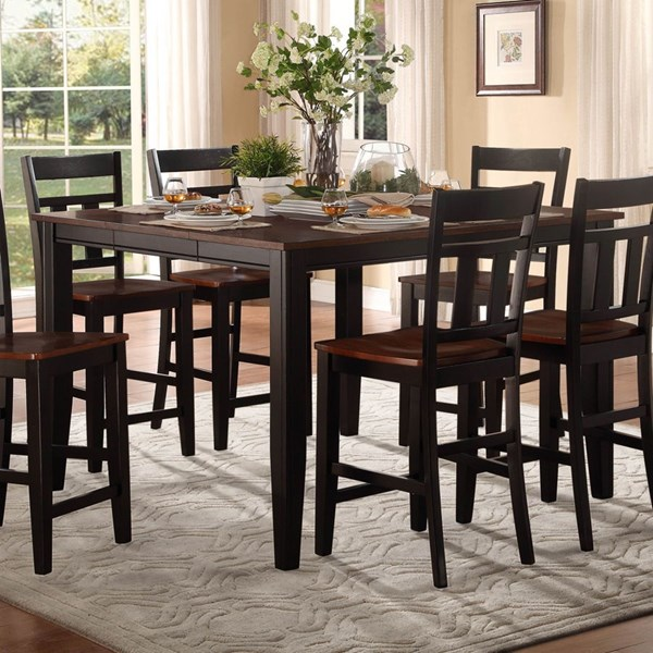 Westport Casual Black Cherry Wood Counter Height Table HE-5079BK-36
