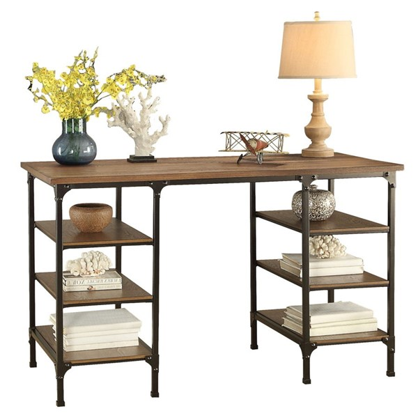 Home Elegance Millwood Distressed Ash Counter Writing Desk HE-5099-22