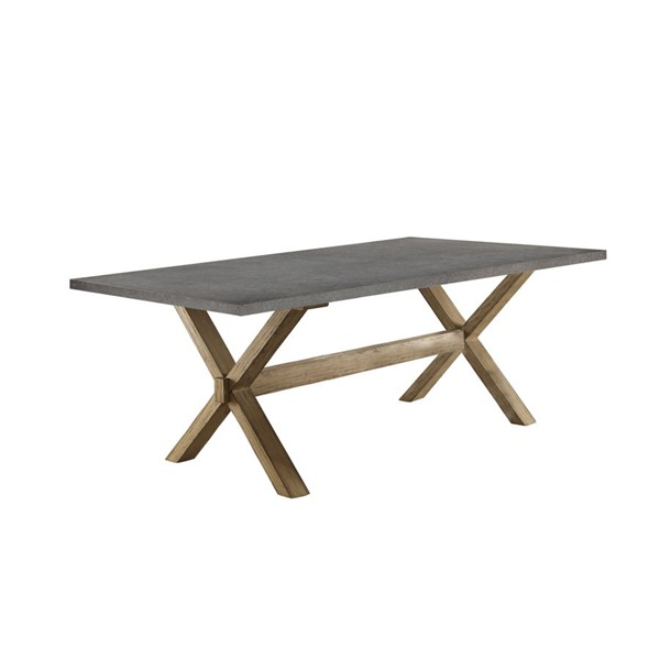 Home Elegance Luella Weathered Oak Dining Table HE-5100-84