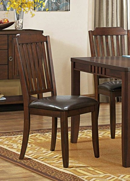 2 Dickens Transitional Rich Brown Wood Counter Height Chairs HE-5101-24