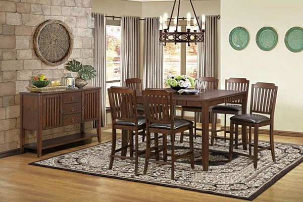 Dickens Transitional Rich Brown Wood Counter Height / Bar Set HE-5101-BAR