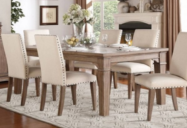 Mill Valley Traditional White Grey Wood Dining Table HE-5108-84