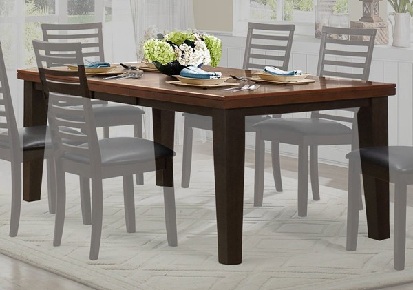 Home Elegance Walsh Walnut Dining Table HE-5109-82