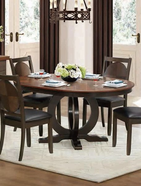 Turing Casual Walnut Wood Round/Oval Dining Table HE-5111-66